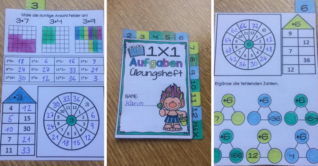 Beispiele Mathe Übungen Grundschule 1x1