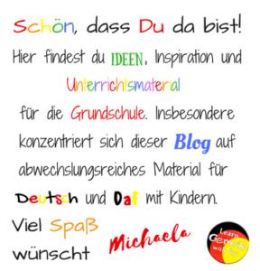 Willkommen auf dem Blog für die Grundschule mit tollen Ideen für Deutsch und DaF mit Kindern!