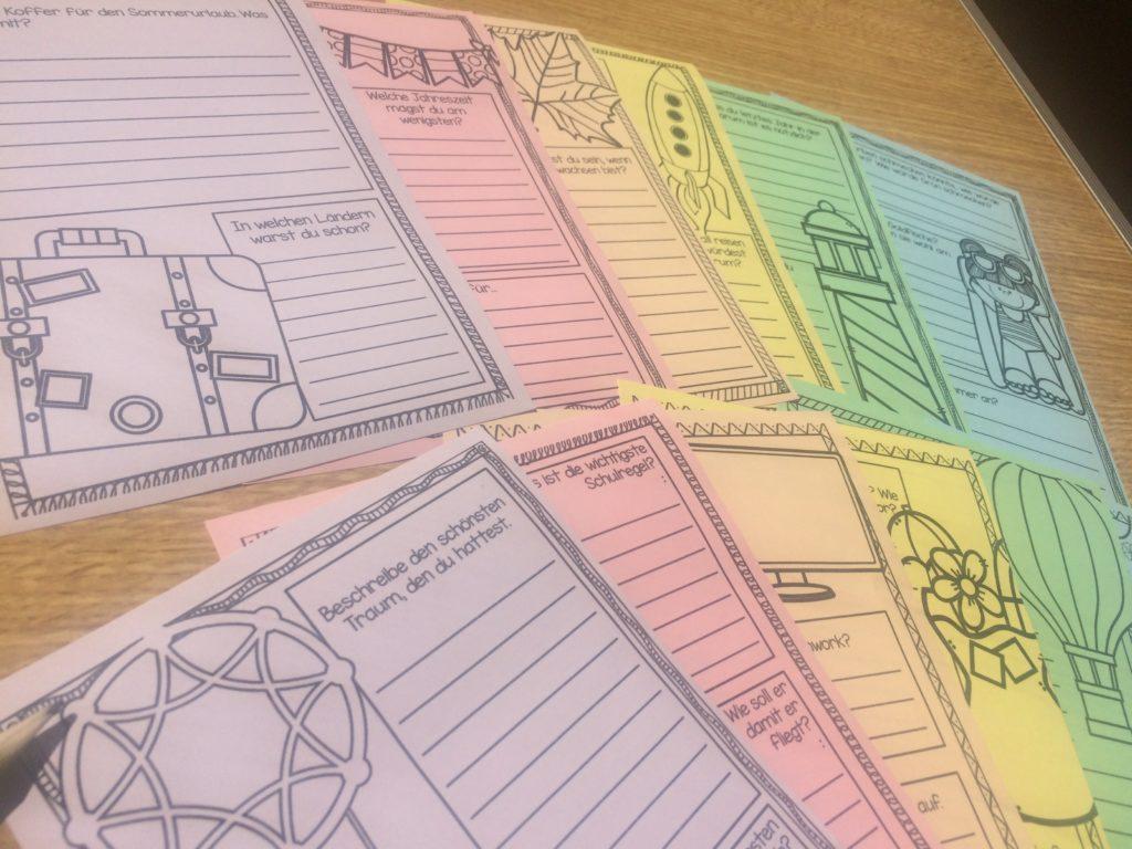 Schreibanlässe für die Grundschule für das ganze Schuljahr passend