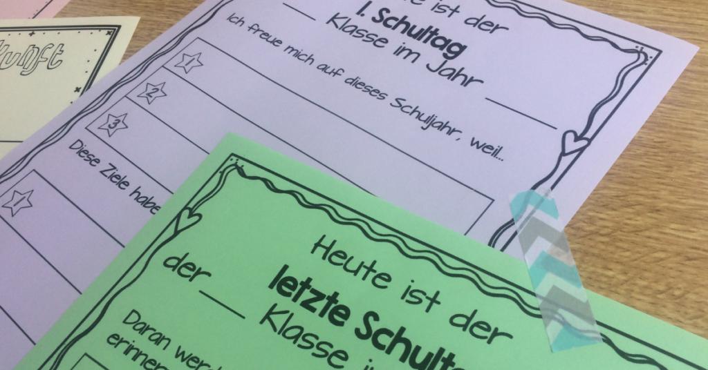 Arbeitsblätter zum Kennenlernen- Zeitkapsel in der Schule gestalten- Zeitkapsel Anleitung