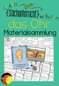 Materialsammlung zum Ohr- Sachunterricht, Biologie