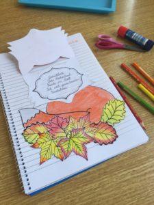 Bastelvorlage für Fuchs. Herbst und Elfchen thematisieren