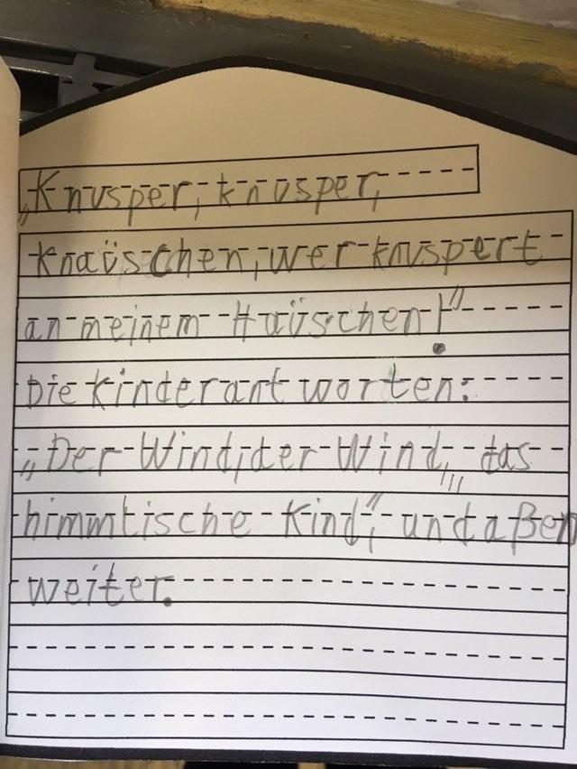 Bastelvorlage für die Grundschule- Lebkuchenhaus. Passend zu Hänsel und Gretel