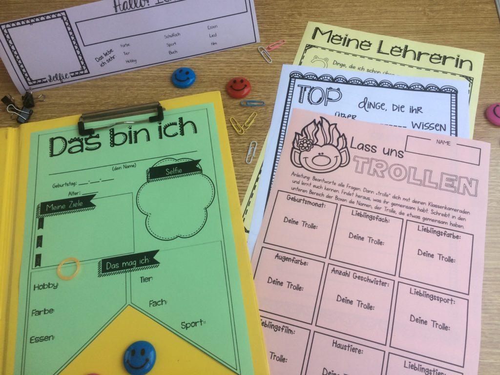 Beispiele aus der Back to school materialsammlung für die Schule