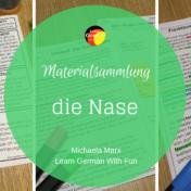 """Materialsammlung für Biologie """"die Nase"""". Arbeitsblätter, Infotexte und Versuche"""