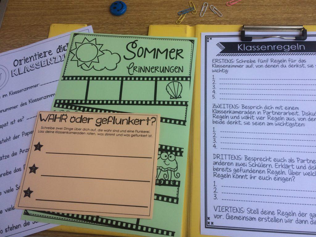 Verschiedene Arbeitsblätter zum Kennenlernen in der Grundschule