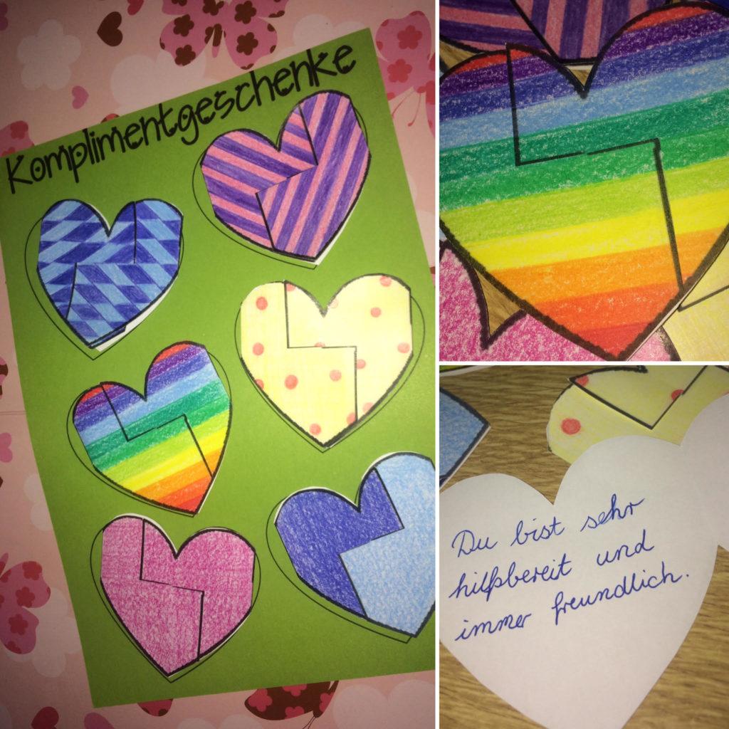 Bastelvorlage für die Grundschule- Valentinstag und Muttertag