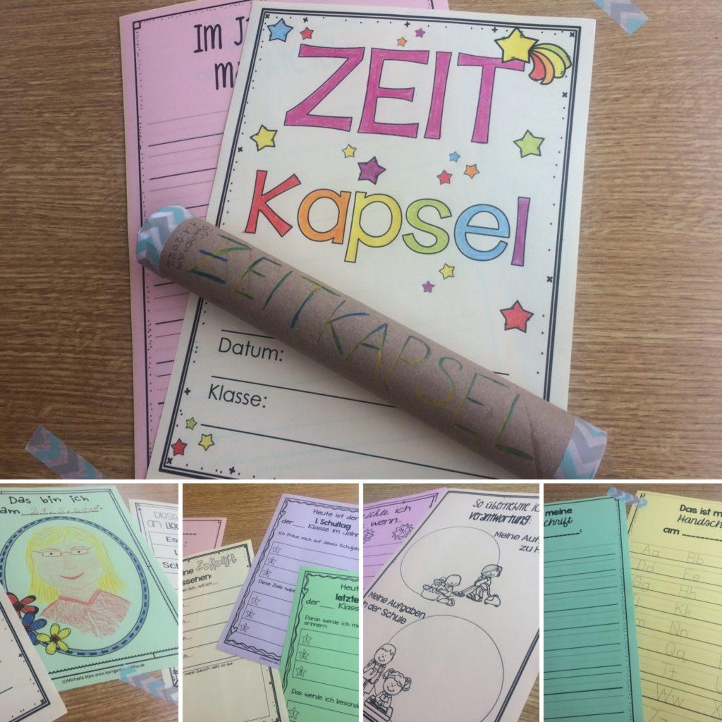 Zeitkapsel für die Grundschule basteln, schreiben, gestalten
