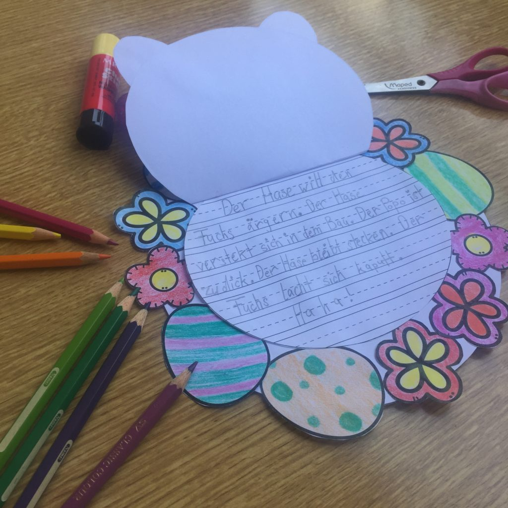 Basteln an Ostern mit Schreibanlass für die Grundschule