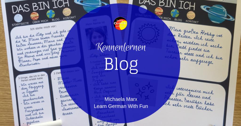 Kennenlernen in der Schule- Blog-Template