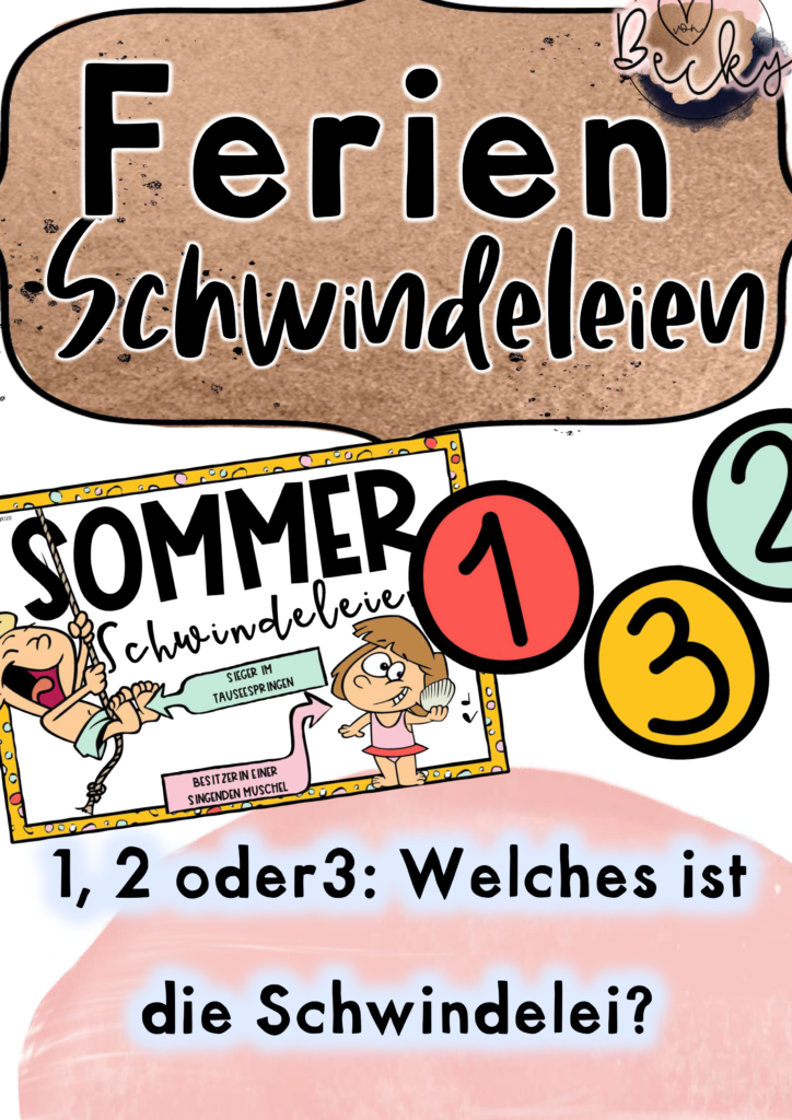Sommerschwindeleien Grundschule nach den Sommerferien