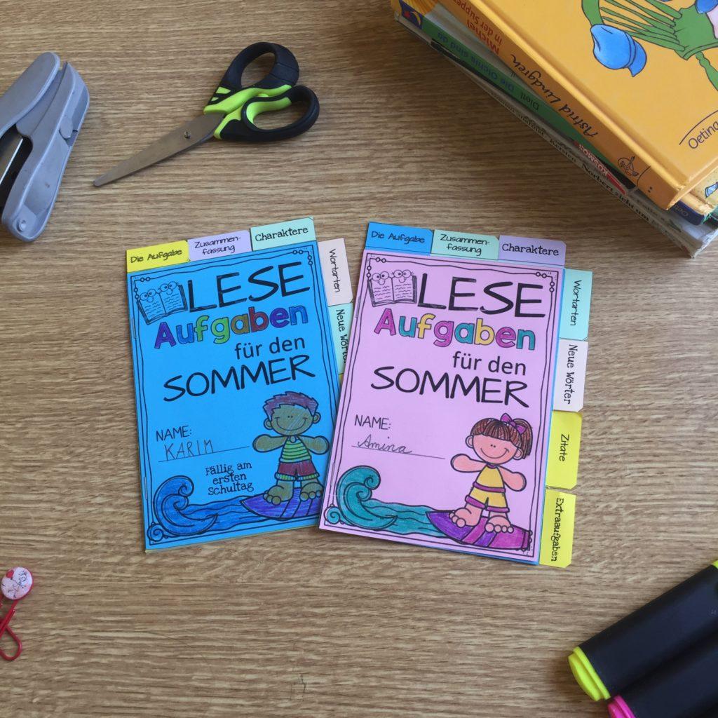 Leseaufgaben und Motivation für die Sommerferien