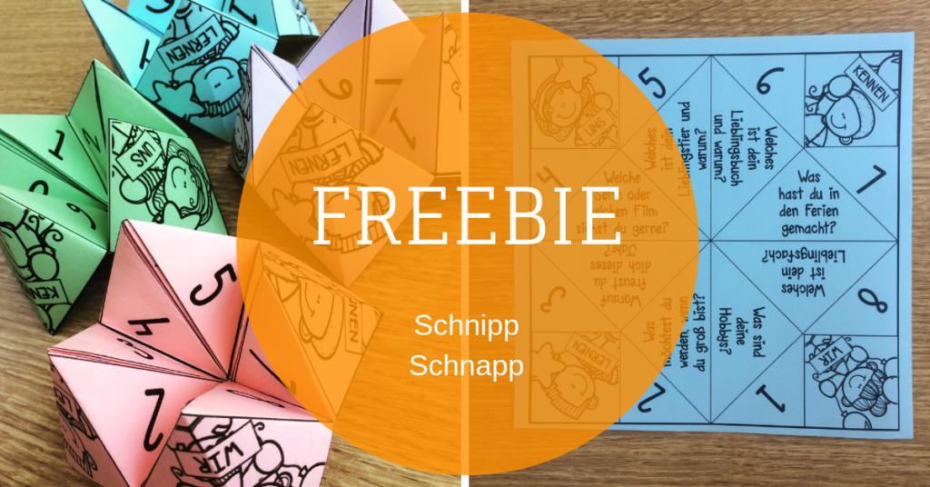 freebie grundschule kennenlernspiel schnipp schnapp