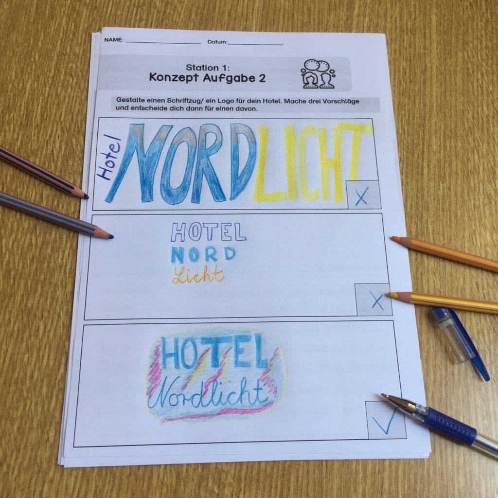 Hotel Projekt für Schüler  Beispiel für Logos