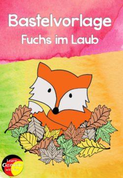 Bastelvorlage Fuchs
