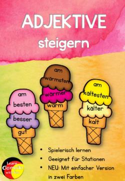 Deutsche Adjektive steigern Spiel