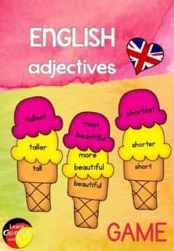 Englische Adjektive steigern spielerische Übung für den Englischunterricht