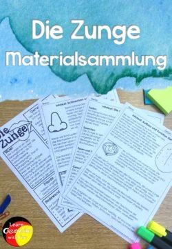 Unterrichtsmaterial Zunge Materialsammlung